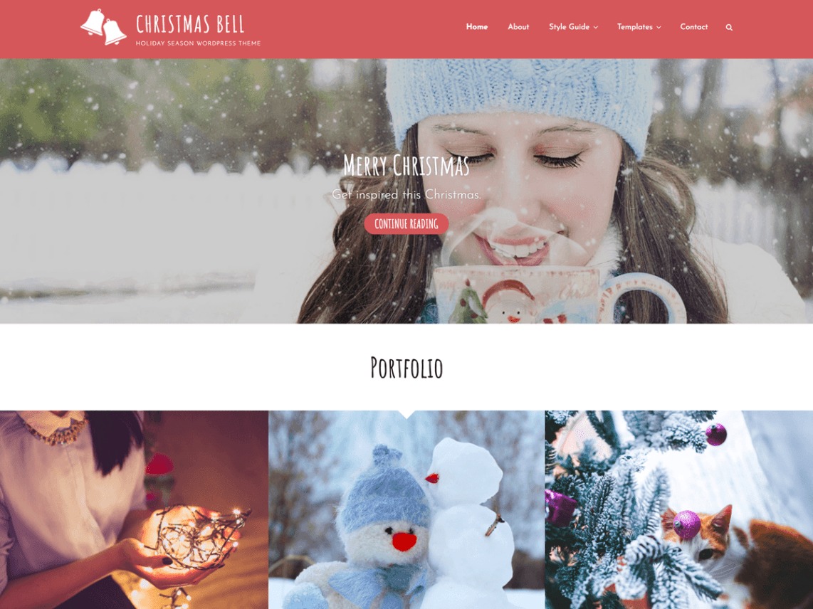 Christmas Bell Christmas WordPress Themes