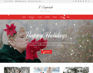 X Corporate Christmas WordPress Themes