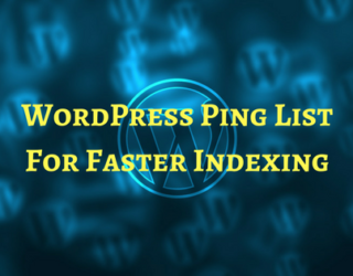 wordpress ping list for faster indexing